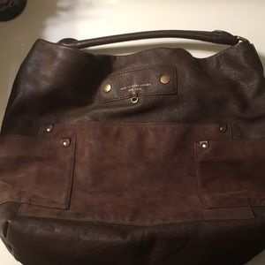 Marc Jacobs brown leather & suede tote.